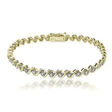 Tennis Gold Sterling Silver Fine Bracelets