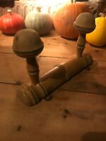 Vintage Coat Hat Hooks Pegs French Antique 19thc Faux Bamboo