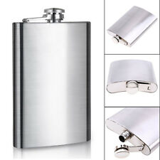 Stainless Steel Hip Liquor 6oz Whiskey Alcohol Pocket Flask Wine Bottle Funnel