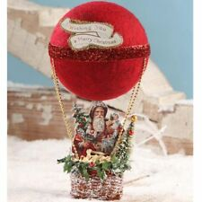 Vintage Hot Air Balloon Christmas Decoration