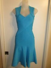 Marciano XS Bandage Dress Bodycon Mermaid Fit Flare Bright Turquoise Blue Party