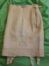 1940's Very Vintage small open bottom girdle w garters Parade Medium