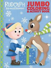 Christmas Rudolph the Red-Nosed Reindeer Coloring Book ~ Rudolph and Hermey