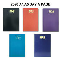 2020 A4 A5 Diary Day A page HardBack Diary Page A Day Yealry Desk Office Home