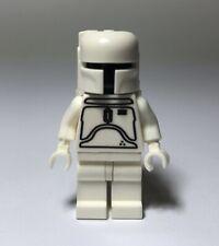 Custom Rare White Boba Fett Minifigure Star Wars Fits Lego Blocks