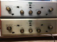 Stereo Pair of Scott 99D Preamp Power Tube Amps Restored & Plug and Play
