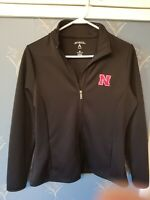 Nebraska Cornhuskers Antigua Women's Revolve Full-Zip Jacket - Medium M