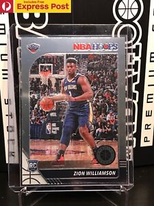 2019-20 PANINI NBA HOOPS PREMIUM STOCK ZION WILLIAMSON RC ROOKIE BASE #258 NM-M