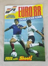 SHOOT Euro 88 Colour Sticker Album - NOT COMPLETE