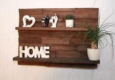 Regal Wandregal Palettenmöbel gebeizt braun 3 D Effekt Board Küche #15