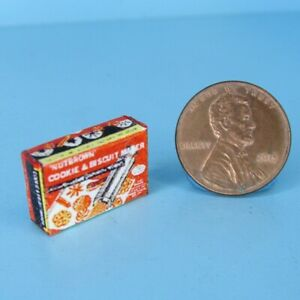 Dollhouse Miniature Replica Retro Cookie and Biscuit Maker Box