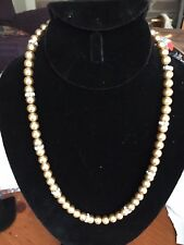"""20"""" gold bead with clear rhinestones"""
