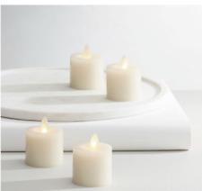 Premium Flicker Flameless Wax Votive Candle, Ivory - Set of 4