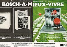 PUBLICITE ADVERTISING 064  1973  BOSCH   lave vaisselle machine à laver ( 2 pa