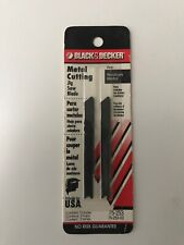 Black Decker Metal Cutting Jigsaw Blade 18 Teeth Per Inch 1/16 And 1-8 Thick