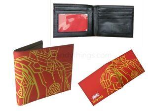 Marvel Avengers Comic Iron Man Boys Red Wallet Card Holder Novelty Gift