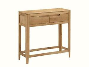 Dunham Oak Large Console Hall Table 2 Drawers Hallway Dining H75 XW30 X L75 cm