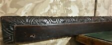 Flower panel trim wood carving pediment Atinque french architectural salvage