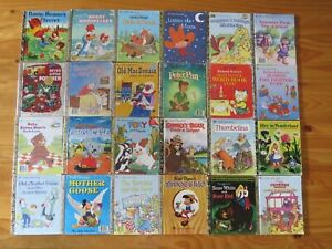 24 Vintage Little Golden Books - Hard Covers - Mainly 1970s - 1990s