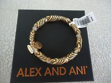 ALEX AND ANI MYSTIC AMBER WRAP Rafaelian Gold Finish Bangle New W/Tag Card & Box