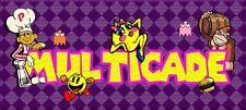 """2-New Arcade Design Classic purple diamond marquee Multicade Art sticker 3""""x16"""""""