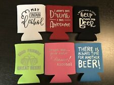 Personalized Funny - Can Coolers - Coolies - Koozies - Set Of 6