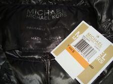 NWT MICHAEL KORS Light Weight Packable 90% Down Long Coat Color GUNMETAL Sz S