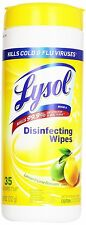 LYSOL Disinfecting Wipes, Lemon and Lime Blossom Scent 35 ea