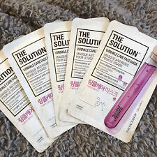 5 x The Face Shop The Solution Wrinkle Care Face Sheet Mask Korean Skincare