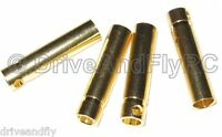 Great Planes Gold Plate Bullet Connector Female 4mm 4 pcs 4x Set of 4 GPMM3115