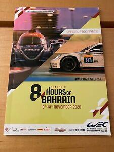 Official Bahrain 8 hours WEC 2020 Programme Porsche Ferrari Toyota mint rare
