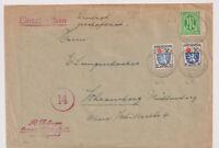 Franz.Zone/Allg.Ausg., Mi. 7,9 MiF AM-Post 3z, Owingen ü Haigerloch, 14.2.46