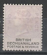 BECHUANALAND 1888 2D PALE LILAC EXPERTISED NO GUM
