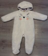 MOTHERCARE BABY GIRLS FLUFFY LINED SNOWSUIT AGE 3-6 MONTHS NEW WITH TAGS