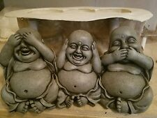 concrete plaster mold   latex and fiberglass see no evil Buddha ready to ship