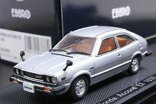 Ebbro 43786 1:43 Honda Accord EX CVCC Hatchback 1976 Die Cast Model Car Silver
