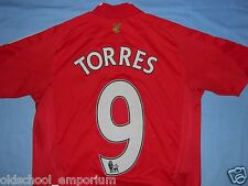 LIVERPOOL FC / TORRES #9 - 2008-2010 Home - ADIDAS - Shirt / Jersey. 12y, 152 cm