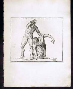 Suicide of Paetus and Arria - c1800 Mythology Engraving