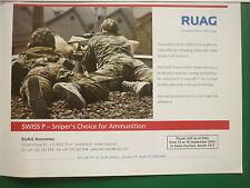 8/2005 PUB RUAG AMMOTEC ARMEE SUISSE SWISS P SNIPER AMMUNITION ORIGINAL AD