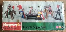 Vintage Marx Toys Playpeople System Knights Super Set 1710 Pre Playmobil