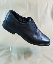 Bostonian Cap Toe Black Leather  Oxford Non Stop Water Proof Mens Size 12M  #A43