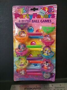 Vintage Lisa Frank Party Favor 8 BLOW BALL GAME NOS RARE HTF