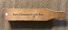 Vintage Lee's Champion Gobble Box Turkey Call Wooden Nice - Signed Ben Lee