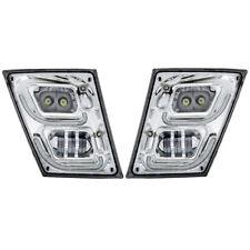 Volvo VNL LED Fog Light | U Bar Design | Set (RH & LH) | Chrome