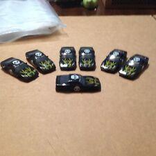 VINTAGE 7 PIECE GROUP AFX TOMY SLOT CAR BODY / SPIDER RACER / BLACK CORVETTE!
