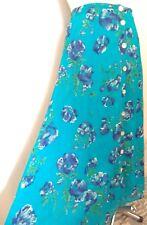 Vtg 80s 90s Dash Floral Button Down Aline Maxi Skirt Summer UK 12