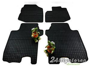 4 x Gummi-Fußmatten ☔ für HONDA Jazz III 2008 - 2013