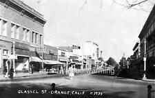 Photo.  1930s.  Orange, California.  Glassell Street