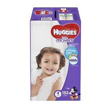 Huggies Little Movers Baby Diapers, Size 4, 152 Count PACKAGING MAY VARY