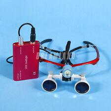 Dental Loupes Kopflupe Magnifier Binokularlupen Lupenbrille 3.5X + LED Headlight
